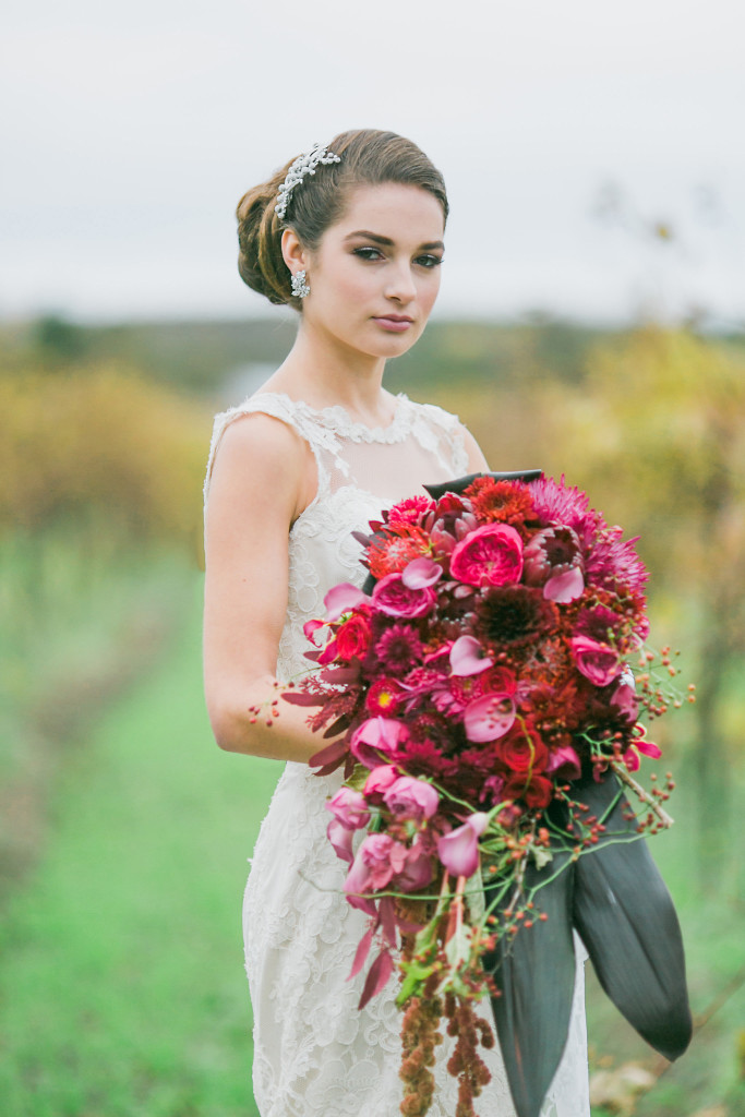 Wedding makeup and hair for WedLuxe Elegant makeup and hair for brides
